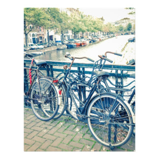 Canal y bicicletas de Amsterdam Membrete Personalizado