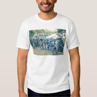 Canal y bicicletas de Amsterdam Remeras