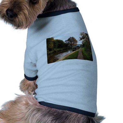 Canal y gabarra de Compton Camiseta Con Mangas Para Perro