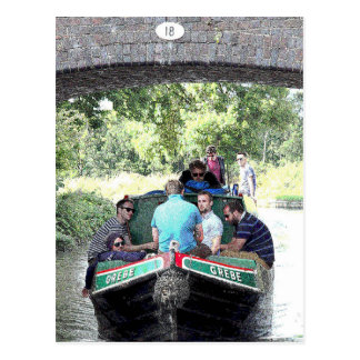 Canalboat Grebe, Coventry Canal at  Nuneaton Postcard