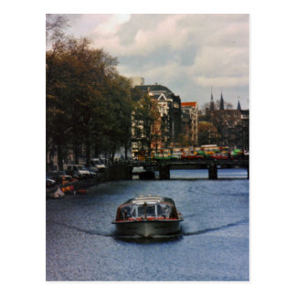 Canalboat Postcard