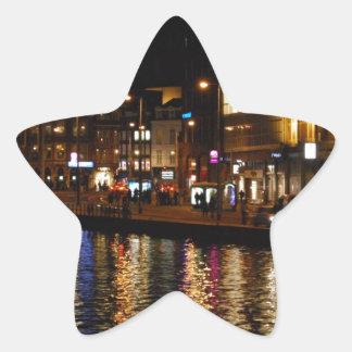 Canales de Amsterdam Calcomanias Forma De Estrella