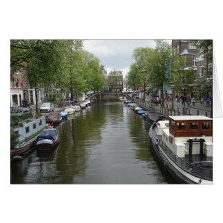 Canales de Amsterdam Tarjeta Pequeña
