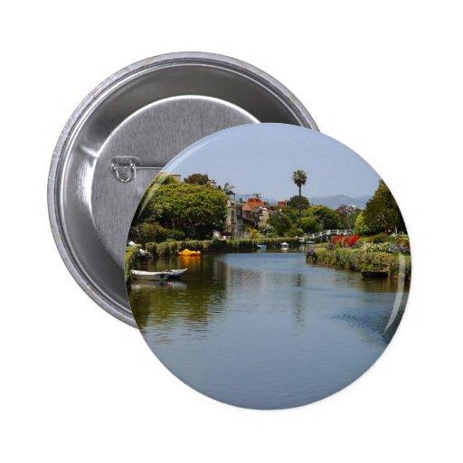 Canales de la playa de Venecia Pin Redondo 5 Cm