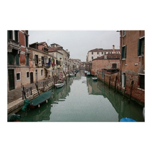 Canales de Venecia en lona Poster