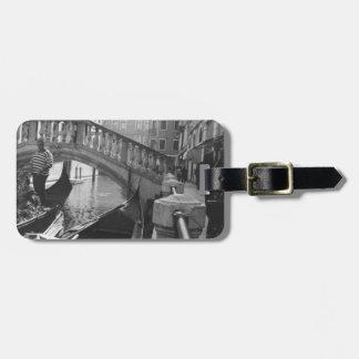 Canales de Venecia Etiqueta De Equipaje