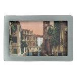 Canales de Venecia, imagen del vintage Hebillas Cinturon