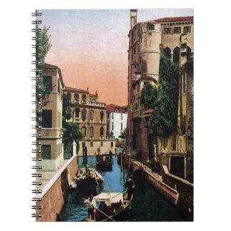 Canales de Venecia, imagen del vintage Libreta Espiral