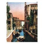 Canales de Venecia, imagen del vintage Membrete