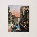 Canales de Venecia, imagen del vintage Rompecabeza