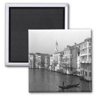 Canales de Venecia Italia Imán Cuadrado