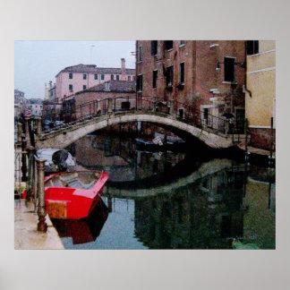 Canales de VeniceII en lona Posters