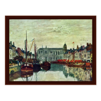 Canales en Bruselas de Boudin Eugène Postales