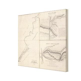 Canales inclinados de Río Paraguay, Río Paraná en  Lona Envuelta Para Galerias