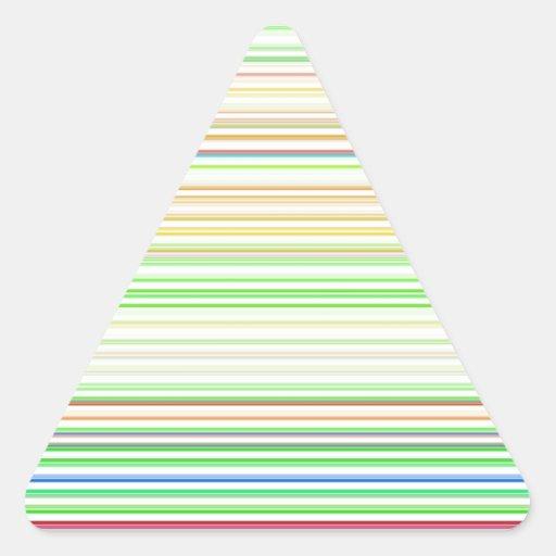 Canales reconstruidos pegatina triangular