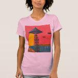 Canales retros de Sci Fi del kitsch del vintage de Camiseta