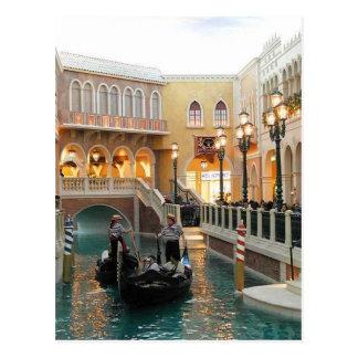 Canales venecianos del casino, postal de Las Vegas