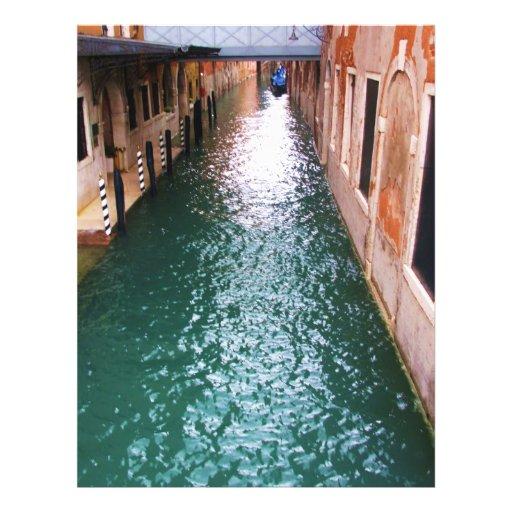Canales venecianos escénicos - Venecia, Italia Flyer A Todo Color
