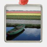 Canales y bulbfields holandeses adorno
