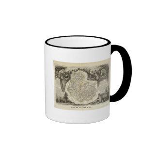 Canales y caminos taza de café