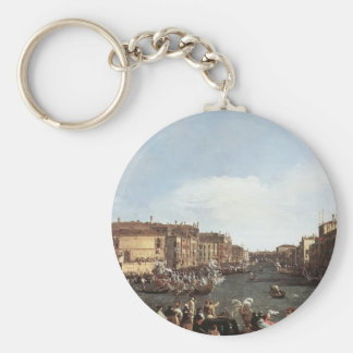 Canaletto- A Regatta on the Grand Canal Key Chains