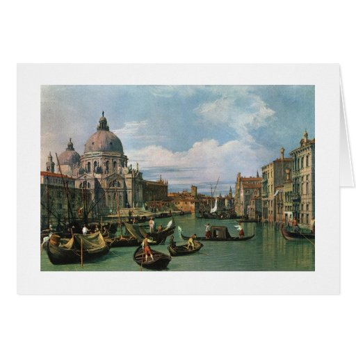 Canaletto, el Gran Canal e iglesia Tarjeton