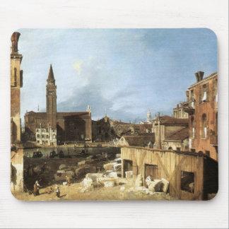 Canaletto, la yarda del cantero tapete de ratones