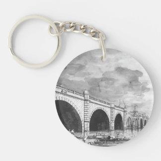 Canaletto- London: Westminster Bridge under Repair Keychain