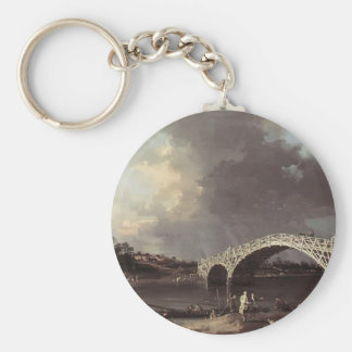 Canaletto- Old Walton Bridge over the Thames Keychain