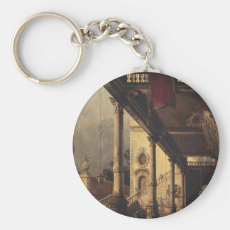 Canaletto- Perspective with a Portico Keychains