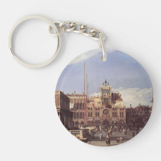 Canaletto- Piazza San Marco, the Clocktower Keychain