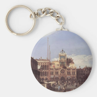 Canaletto- Piazza San Marco, the Clocktower Key Chains