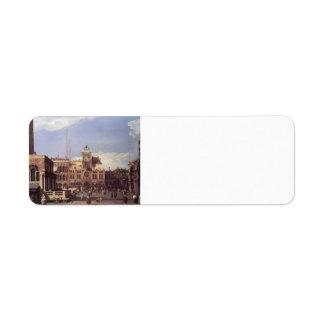 Canaletto- Piazza San Marco, the Clocktower Custom Return Address Labels