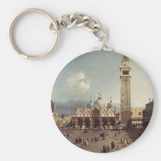 Canaletto- Piazza San Marco with the Basilica Keychains