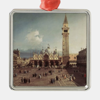 Canaletto- Piazza San Marco with the Basilica Christmas Tree Ornament