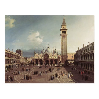 Canaletto- Piazza San Marco with the Basilica Postcard