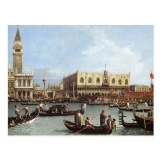 Canaletto,Return of the Bucentoro Postcard
