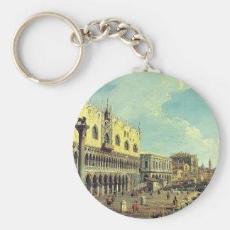 Canaletto- Riva degli Schiavoni Looking East Key Chains