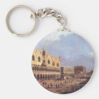 Canaletto- Riva degli Schiavoni: Looking East Key Chain