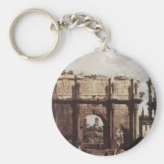 Canaletto- Rome: The Arch of Constantine Keychain