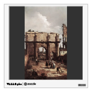Canaletto- Rome: The Arch of Constantine Room Decals