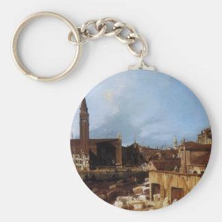 Canaletto- Stonemason's Yard Keychains