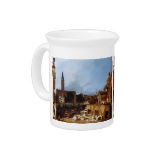 Canaletto- Stonemason's Yard Beverage Pitchers