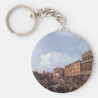 Canaletto- The Molo Looking West Keychain