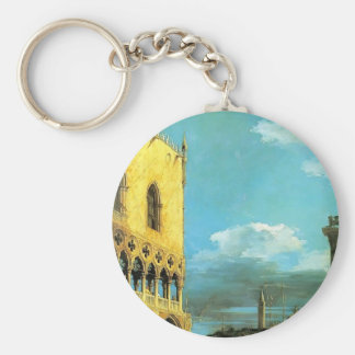 Canaletto- The Piazzet Looking South Key Chains