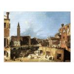 Canaletto,The Stonemason's Yard. Postcard
