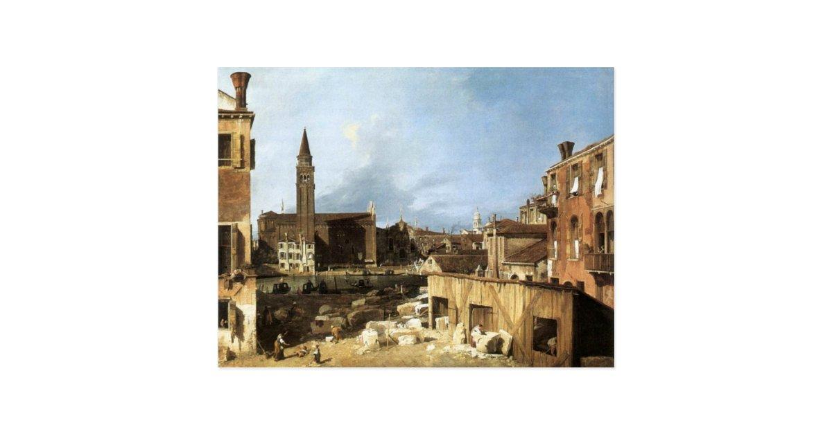 Canaletto The Stonemason U0026 39 S Yard  Postcard