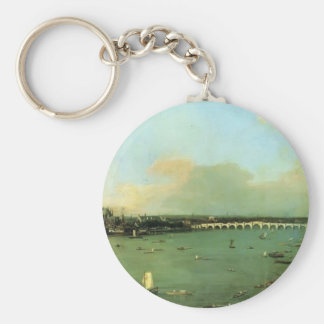 Canaletto- The Thames with St. Paul's Cathedral Key Chains