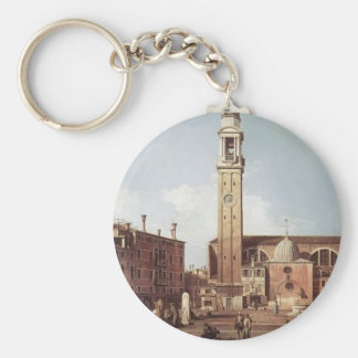 Canaletto- View of Campo Santi Apostoli Key Chain