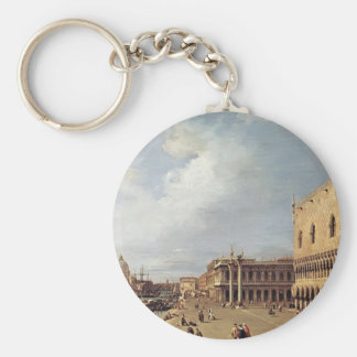 Canaletto- View of the Ducal Palace Keychain